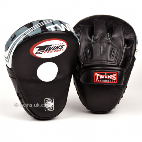 Twins PML-10 Deluxe Curved Focus Mitts - Black